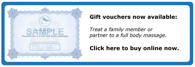 Gift vouchers for Massage Hands